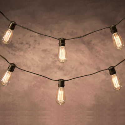 12' Cleveland Vintage Lighting 10 Edison Light Bulb Socket Cord Set - Black Wire