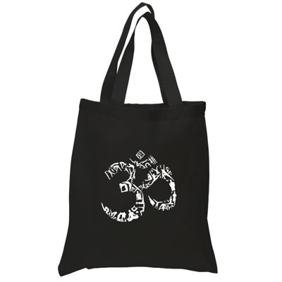 Los Angeles Pop Art The Om Symbol Out Of Yoga Poses Tote