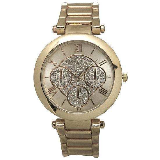 Olivia Pratt Womens Gold Tone Bracelet Watch D60011gold