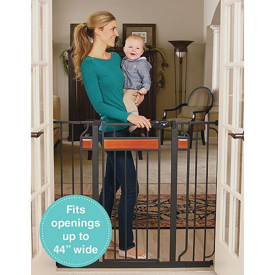 Regalo Home Accents Extra Tall Metal Walk-Through Safety Gate