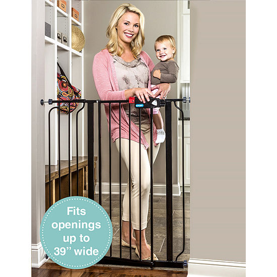 Regalo Easy Step Extra Tall Black Metal Walk-Through Gate