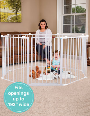 Regalo 4-IN-1 Play Yard Configurable Metal Safety Gate