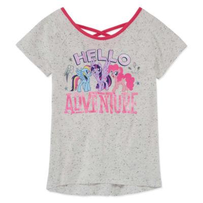 Round Neck Short Sleeve My Little Pony Blouse Girls