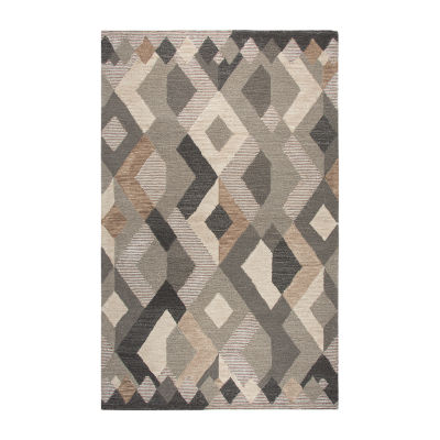 Rizzy Home Idyllic Collection Samantha Geometric Rectangular Rugs