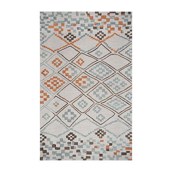 Rizzy Home Lancaster Collection Adriana GeometricRectangular Rugs