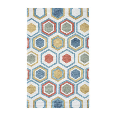 Rizzy Home Lancaster Collection Hayden Geometric Rectangular Rugs