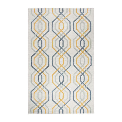 Rizzy Home Lancaster Collection Rebecca Geometric Rectangular Rugs