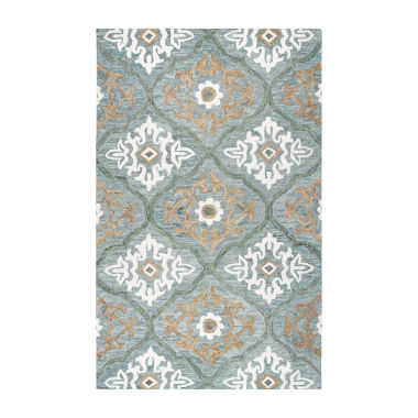 Rizzy Home Leone Collection Julianna Medallion Rectangular Rugs