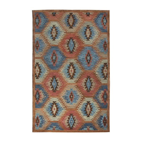 Rizzy Home Leone Collection Michelle Diamond Rectangular Rugs