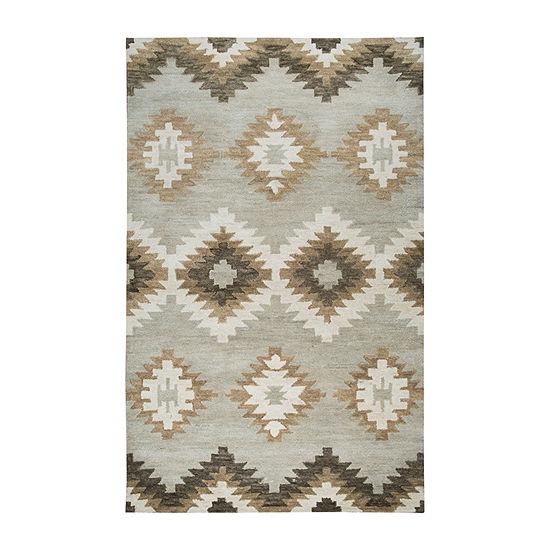 Rizzy Home Leone Collection Mila Diamond Rugs