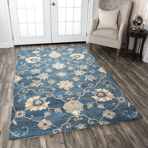 Rizzy Home Leone Collection Violet Floral Rugs