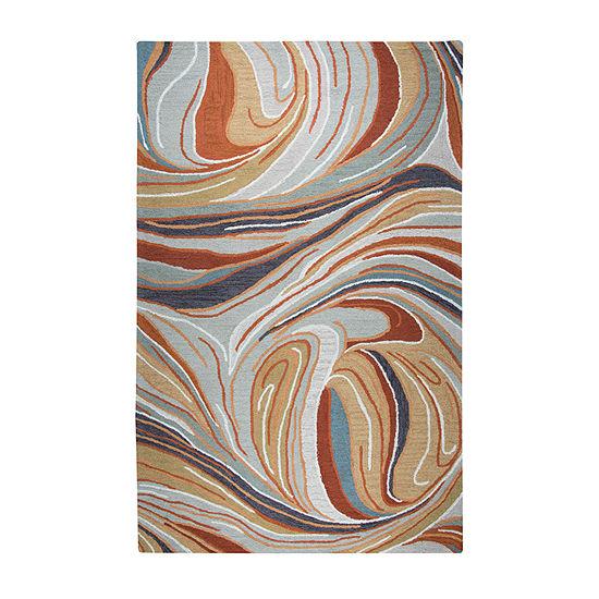 Rizzy Home Loureli Collection Arabella Abstract Rectangular Rugs
