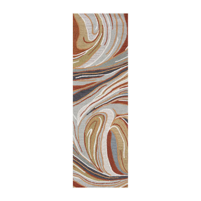 Rizzy Home Loureli Collection Arabella Abstract Rectangular Rugs