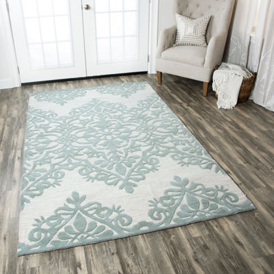 Rizzy Home Luniccia Collection Lila Damask Rugs
