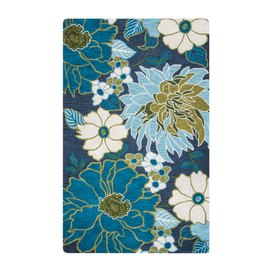 Rizzy Home Luniccia Collection Ryleigh Floral Rugs