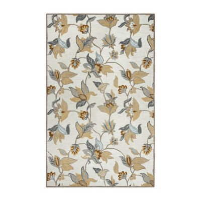Rizzy Home Maggie Belle Collection Alana Floral Rectangular Rugs