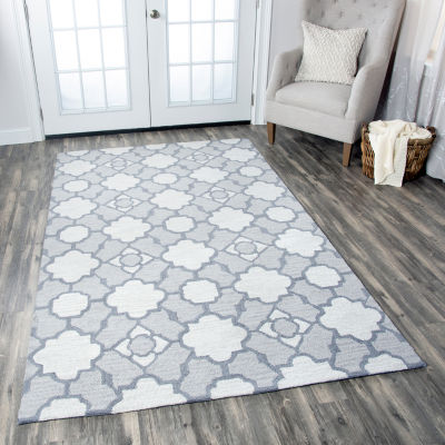 Rizzy Home Maggie Belle Collection Daniela Geometric Rectangular Rugs