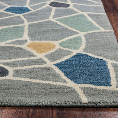 Rizzy Home Marianna Fields Collection Alexandria Stripe Rugs