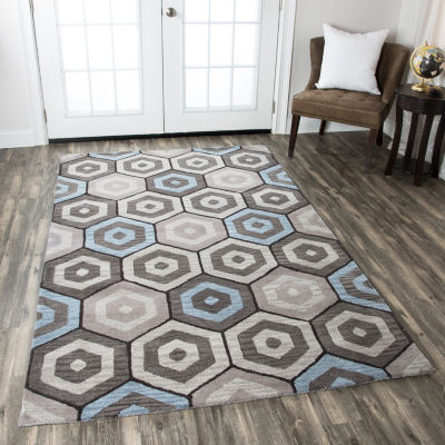 Rizzy Home Marianna Fields Collection Alivia Geometric Rectangular Rugs