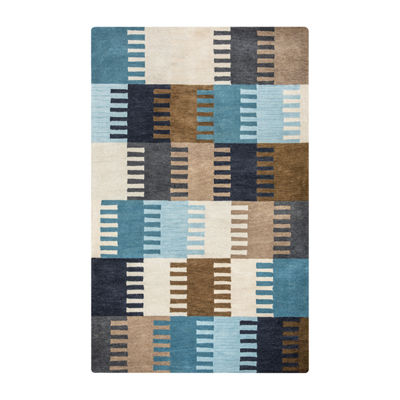Rizzy Home Marianna Fields Collection Ana Color Block Rectangular Rugs