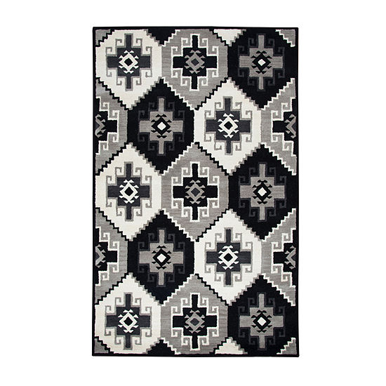 Rizzy Home Marianna Fields Collection Esther Geometric Rectangular Rugs