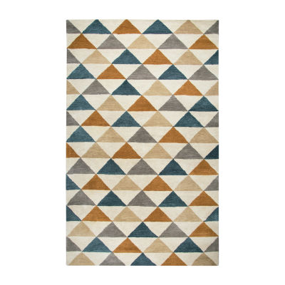 Rizzy Home Marianna Fields Collection Finley Geometric Rectangular Rugs