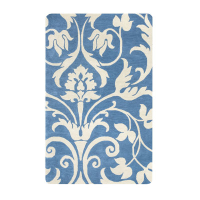 Rizzy Home Marianna Fields Collection Genesis Damask Rectangular Rugs