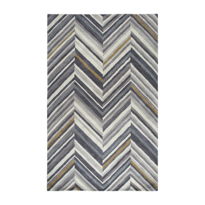 Rizzy Home Marianna Fields Collection Jessica Chevron Rectangular Rugs