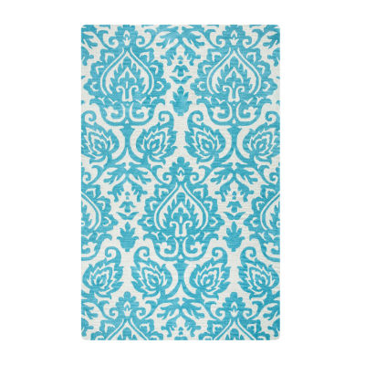 Rizzy Home Marianna Fields Collection Makenzie Damask Rectangular Rugs