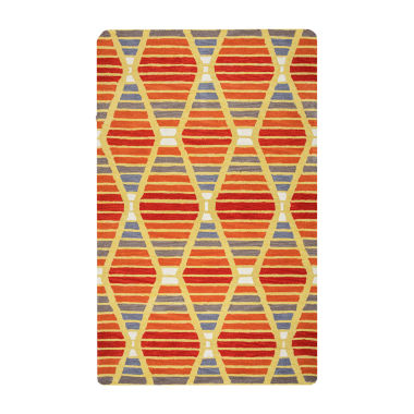 Rizzy Home Marianna Fields Collection Nova StripeRectangular Rugs