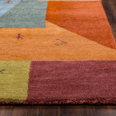 Rizzy Home Mojave Collection Alayna Color Block Rectangular Rugs