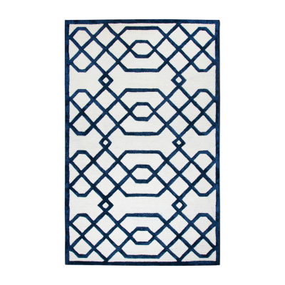 Rizzy Home Monroe Collection Sarah Geometric Rectangular Rugs