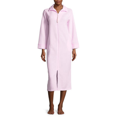 Collette by Miss Elaine Quilted Knit Zip Robe