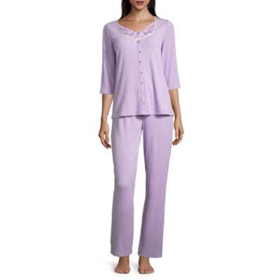 Adonna 3/4 Sleeve Knit Pant Pajama Set
