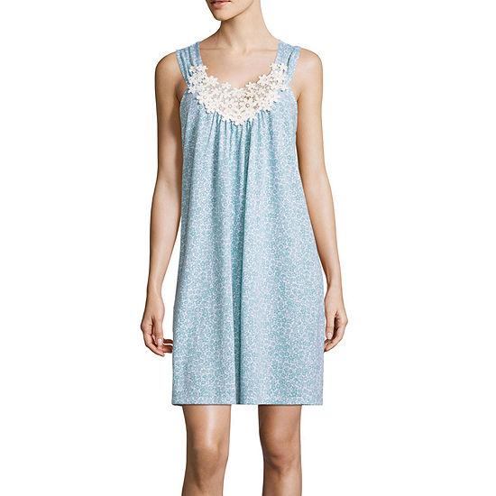 Adonna Womens Nightgown Sleeveless Scoop Neck