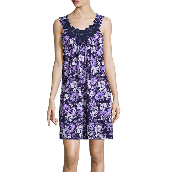 Adonna Womens Nightgown Sleeveless Scoop Neck
