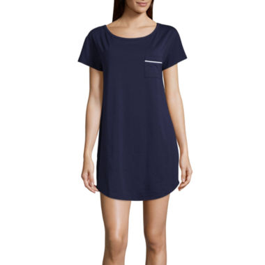 Liz Claiborne® Short-Sleeve Nightshirt