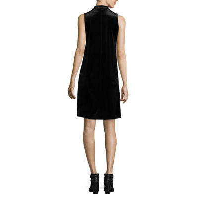 Tiana B Sleeveless Velvet Dress - Tall