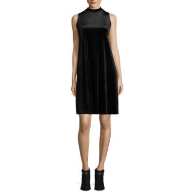 Tiana B Sleeveless Velvet Dress - Tall