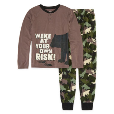 Bear Camo 2 Piece Pajama Set - Boys 4-20