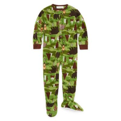 Wildlife Footed One Piece Pajama - Toddler Boys
