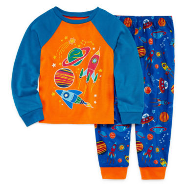 Glow in the Dark 2 Piece Pajama Set - Toddler Boys