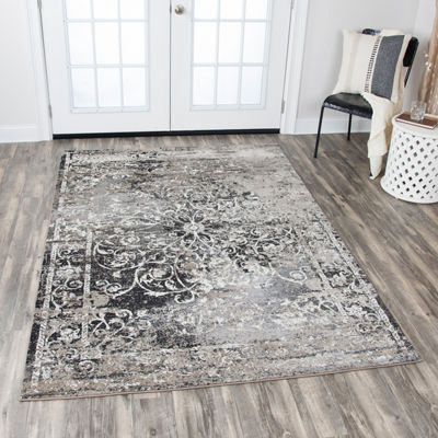 Rizzy Home Panache Collection Juliet Scroll Rectangular Rugs