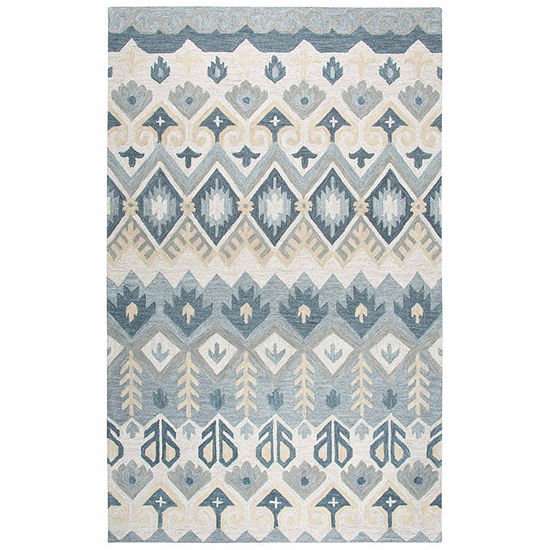 Rizzy Home Resonant Collection Lena Geometric Rectangular Rugs