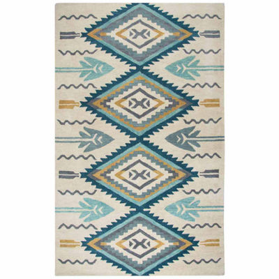 Rizzy Home Southwest Collection Kenzie Diamond Rugs