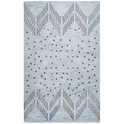 Rizzy Home Tumble Weed Loft Collection Amiyah Dots Rectangular Rugs