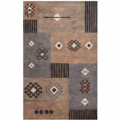 Rizzy Home Tumble Weed Loft Collection Joanna Pattern Rectangular Rugs