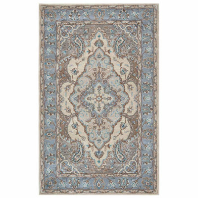 Rizzy Home Valintino Collection Amber Bordered Rectangular Rugs