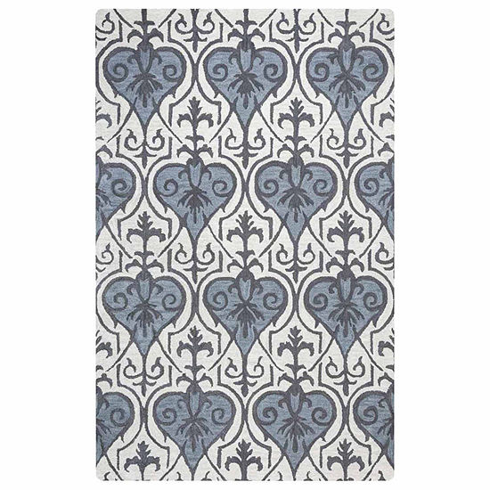 Rizzy Home Valintino Collection Annie Damask Rectangular Rugs