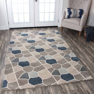 Rizzy Home Valintino Collection Catalina Pattern Rectangular Rugs